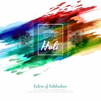 Abstract Happy Holi colorful festival stylish background illustration