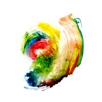Abstract colorful watercolor artistic stain background