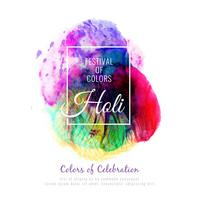 Abstract Happy Holi colorful greeting background
