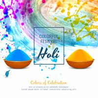 Abstract Happy Holi religious festival decorative background