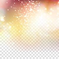 Abstract glittering stylish design on transparent background
