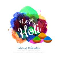 Abstract Happy Holi colorful background
