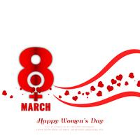 Abstract Women's day stylish background design