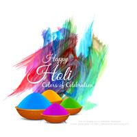 Abstract Happy Holi colorful festival background design