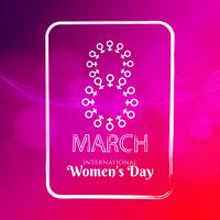 Abstract Women's day elegant background illustration