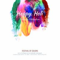 Abstract Happy Holi colorful festival decorative background design
