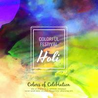 Abstract Happy Holi colorful festival background illustration