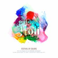 Festival-Vektorhintergrundillustration des abstrakten glücklichen Holi bunte
