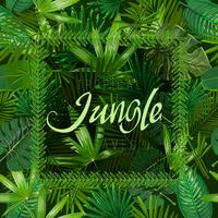 Vector Seamless pattern with tropical leaves