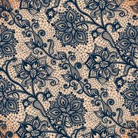 Abstract lace ribbon seamless pattern with elements flowers.