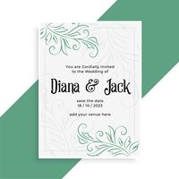 decorative wedding card design invitation template