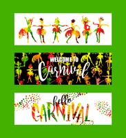 Carnival. Bright festive banners trending abstract style.