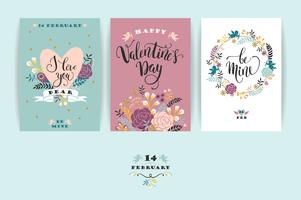 Set van Happy Valentines Day-kaarten.