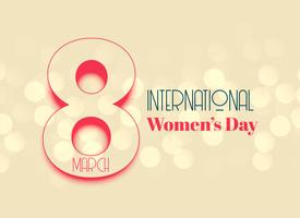 internation women's day beautiful background design