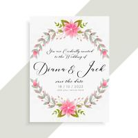 floral wedding invitation card elegant template