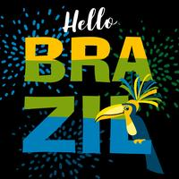 Carnaval de Brasil. Plantilla de vectores para el concepto de carnaval