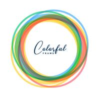 colorful circle frames set background