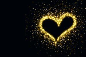 hermoso corazón hecho con destellos de fondo