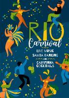 Carnaval do Brasil. Modelo de vetor para o conceito de carnaval.