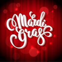 Mardi Gras. Lettering design för Banners, Flyers, Placards, Post