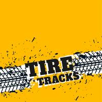 yellow background with grunge tire marks