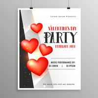 Happy Valentines Day Flyer Design Party Vorlage