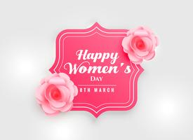 Fondo del día de la mujer feliz con flor rosa rosa
