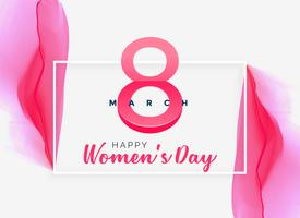 abstracte roze aquarel vrouwen dag achtergrond