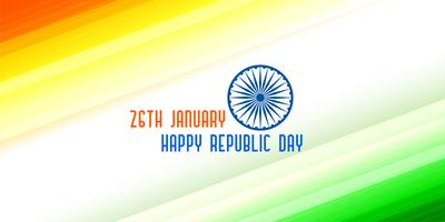 tricolor banner for indian republic day