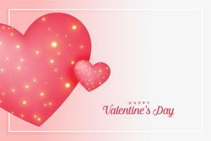 rosa kärlek hjärtan med gnistrar för valentines dag