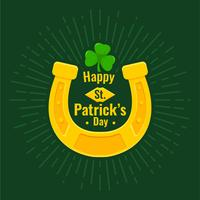 Lucky Horseshoe on St. Patrick's day vector