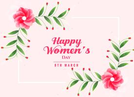 happy women's day background with flower decoration