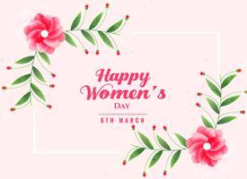 felice giorno della donna sfondo con decorazione floreale