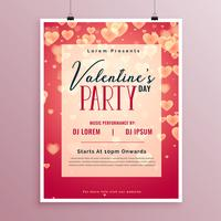 valentines day party affischdesign