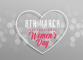 design de coração dia feliz feminino em fundo cinza