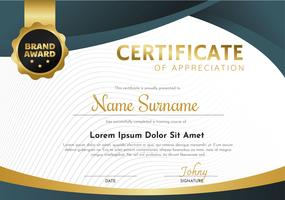 Certificate Template Vector Design