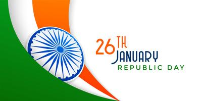 indian flag illustration for republic day