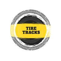tire tracks circular frame background