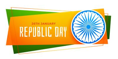 happy republic day india banner in tricolor