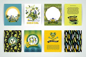 Big set of Brazil Carnival Backgrounds. vector