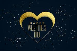 happy valentines day golden hearts background