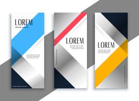 geometric business vertical banners set
