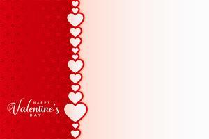 Lycklig valentin dag kort design med hjärtan bakgrund