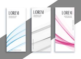 abstract subtle vertical banners set