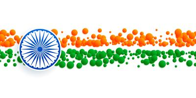 abstract indian flag banner made with circles