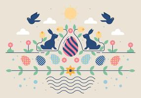 Illustration vectorielle de Pâques papier peint
