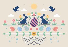 Ostern-Tapeten-Vektor-Illustration