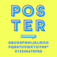 Retro Offset Rounded Alphabet