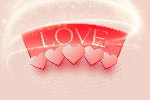 beautiful love background with light effect