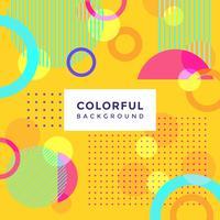 Vetor de fundo colorido